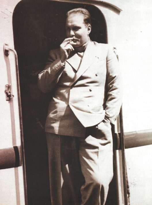 الملك فاروق بالقطار