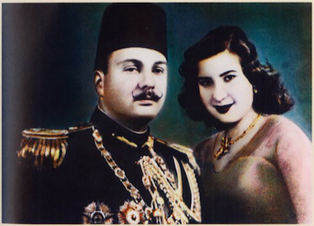 زفاف الملك فاروق و ناريمان