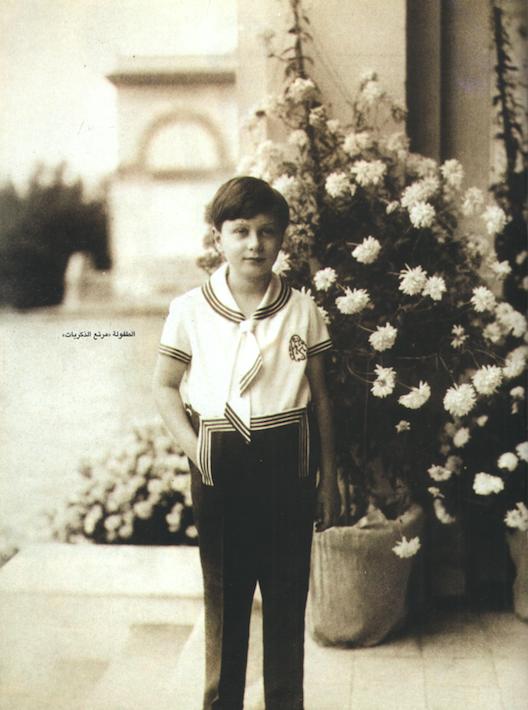 الملك فاروق في الطفولة