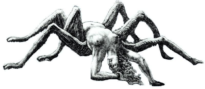 الصورة جزء من لوحة أكبر للفنان الفرنسي غوستاف دوريه