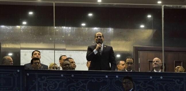 السيسي خلال إفتتاح بطولة كأس الأمم الأفريقية