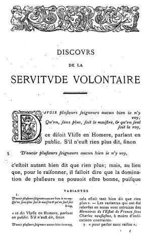 الغلاف الأصلي لكتاب مقال في العبودية المختارة