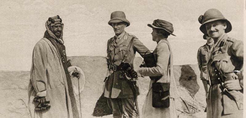 جيرترود بيل تلتقي عبد العزيز آل سعود في البصرة، 1917