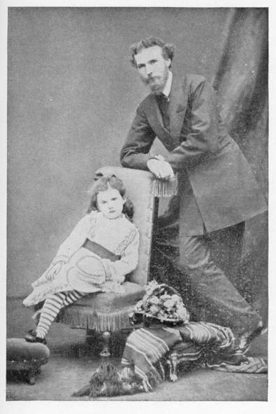 جيرترود بيل في سن الرابعة مع والدها