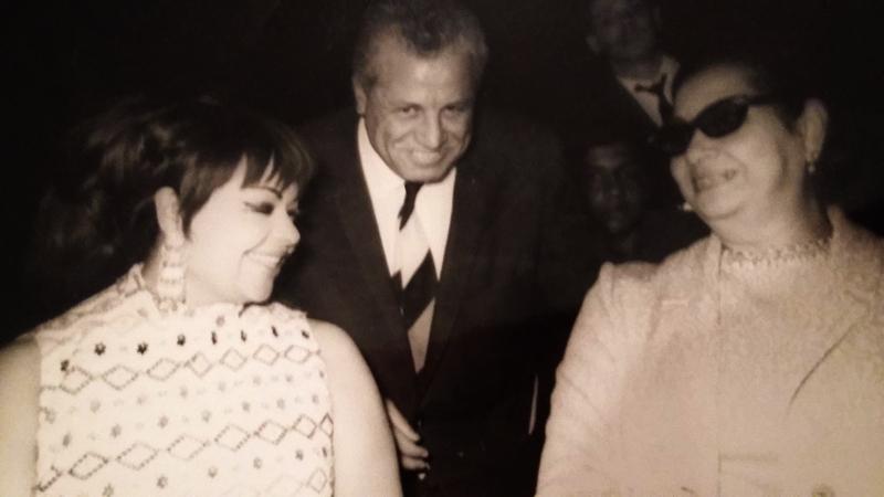 شهرزاد مع أم كلثوم والمؤرخ الموسيقي محمود كامل - أرشيف مشيرة كامل