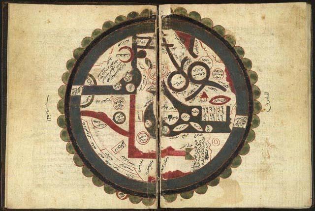 خريطة العالم - ابن الوردي